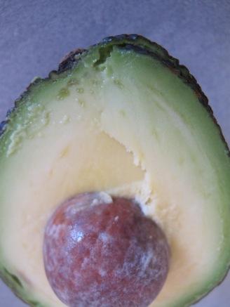 avocado, half