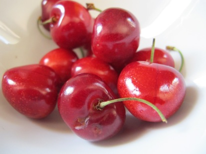 cherries, fresh off the tree