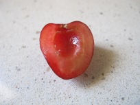 cherry, half
