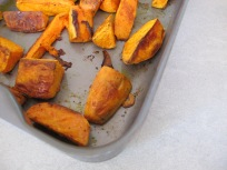 sweet potatoes - just out of oven
