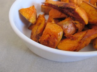sweet potatoes, roasted - dish