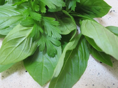 fresh basil & parsley