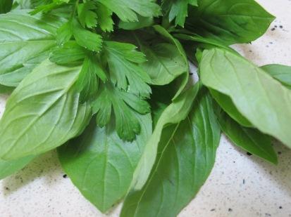 fresh basil & parsley