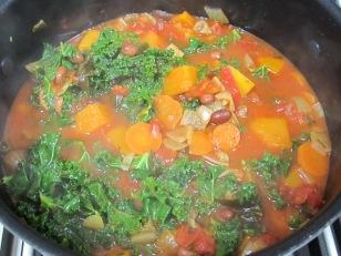 add kale & pasta