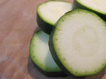 courgettes, sliced
