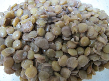 green lentils, cooked