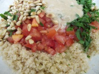 add ingredients to quinoa