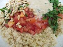 add ingredients to quinoa