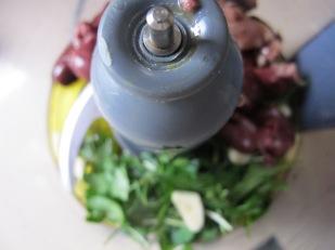 tapenade, in the food processor