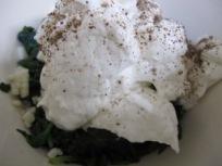 add yogurt to spinach – photo @Spanish_Valley